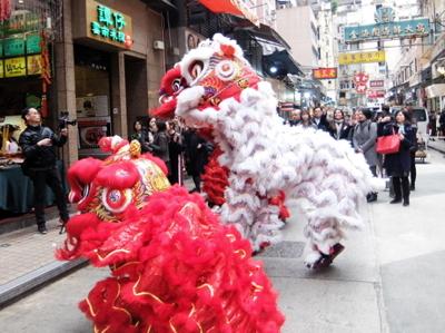 南国クルーズ204香港獅子舞