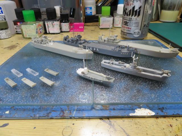 揚陸艇(輸送艇) 中型 LCU2001型 組み終わり
