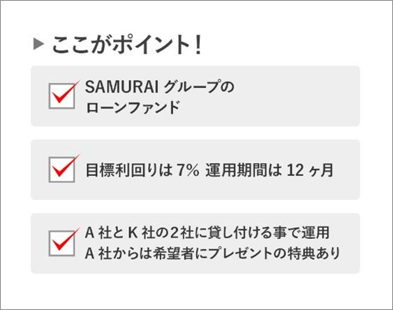 02_SAMURAIがソーシャルレンディングを開始!