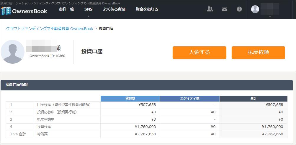 オーナーズブック投資可能額50万円