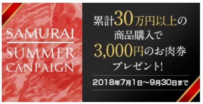 SAMURAIサマーキャンペーン
