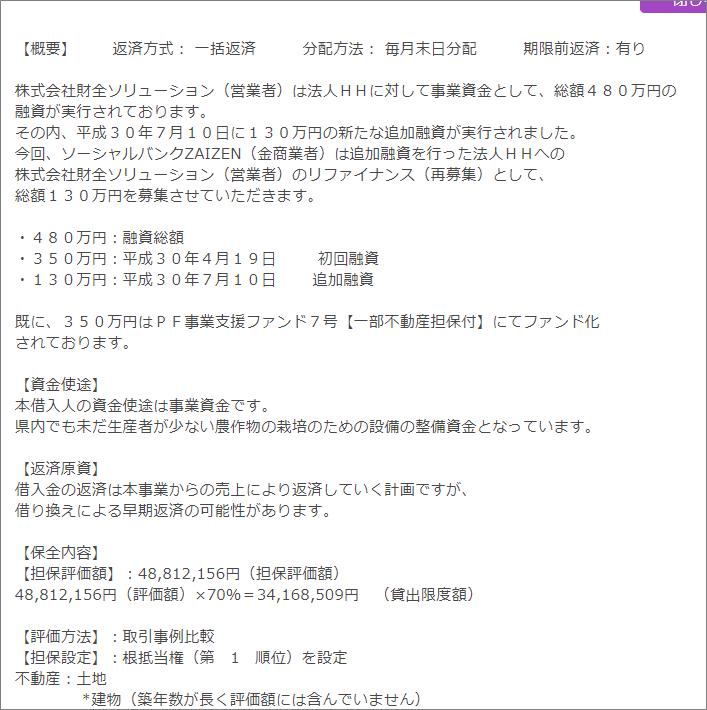03_ポケットファンディング_22万5千円投資