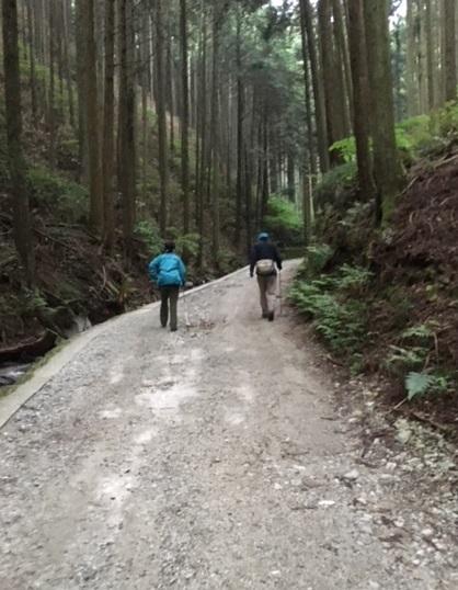 金剛山登り口
