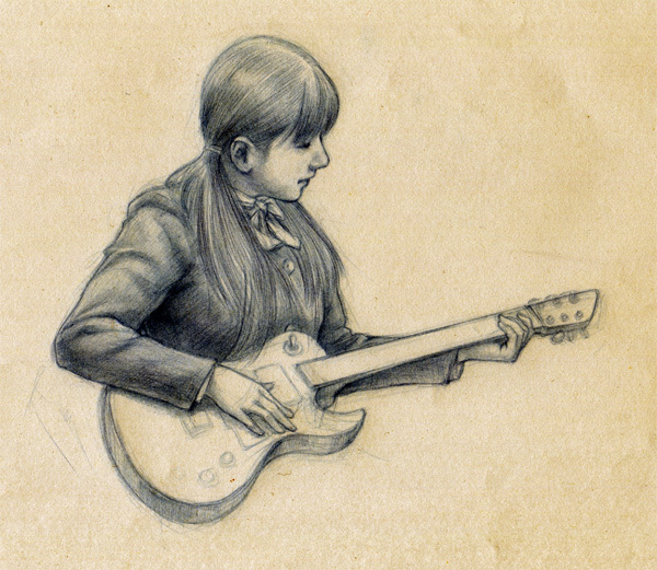 ギターデッサン_180421