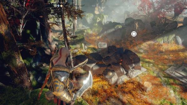 【ゴッドオブウォーPS4攻略】魔女の家の近くにあるノルンの宝箱(封印宝箱)の開け方 /「川沿いの道」 【GOW 攻略ブログ】