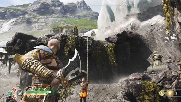 【ゴッドオブウォーPS4攻略】鴉の崖にあるノルンの宝箱(封印宝箱)の開け方 /「ミズガルズ」 【GOW 攻略ブログ】