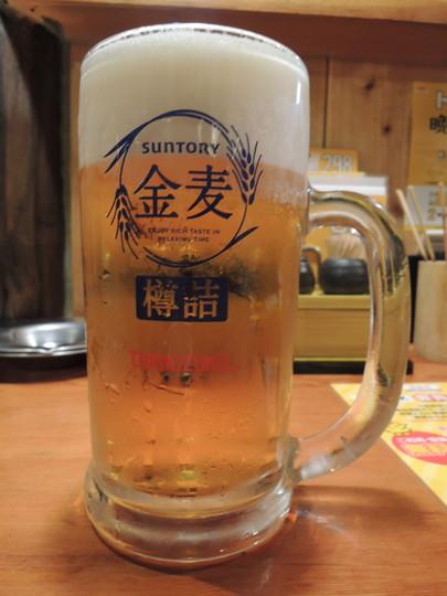 金麦(大)(321円)二杯目