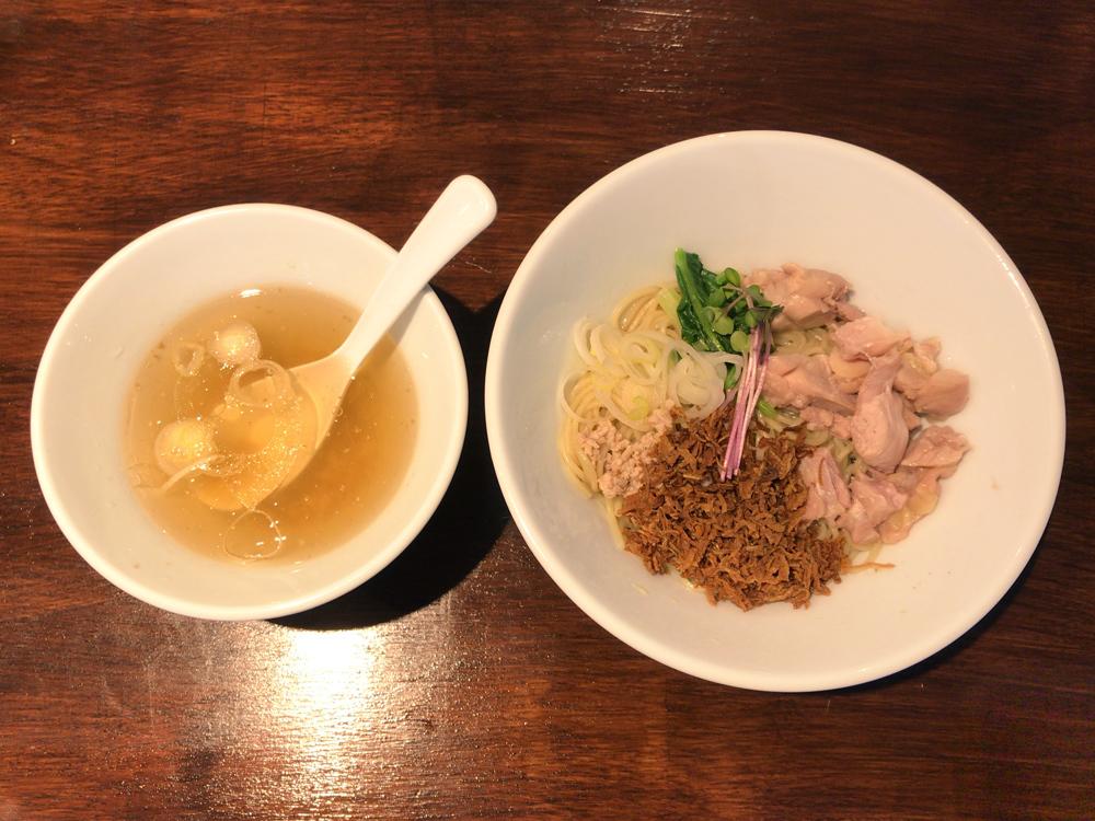 塩生姜らー麺専門店 MANNISH(新店舗) -- 塩生姜油そば(スタンプ5個以上限定)
