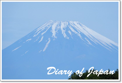里の傍からの富士山の眺め