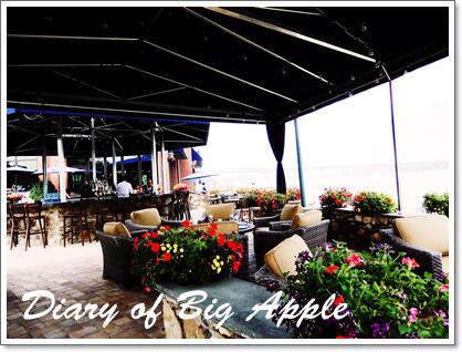 ハドソン川沿いのレストラン