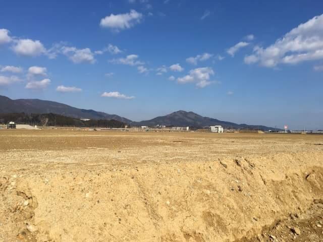 陸前高田 盛り土の様子