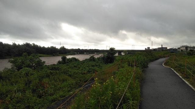 中央線多摩川鉄橋付近