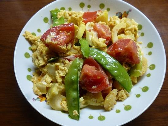 トマト卵炒め20180615