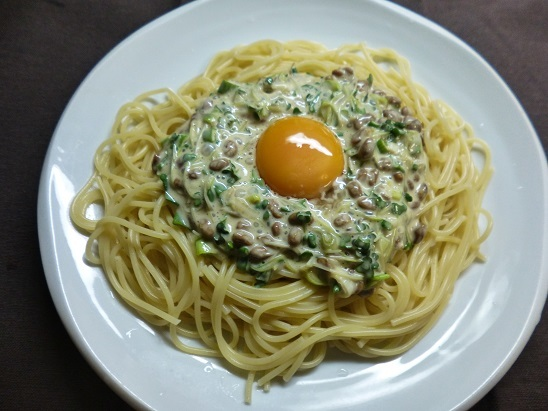 納豆パスタ20180803