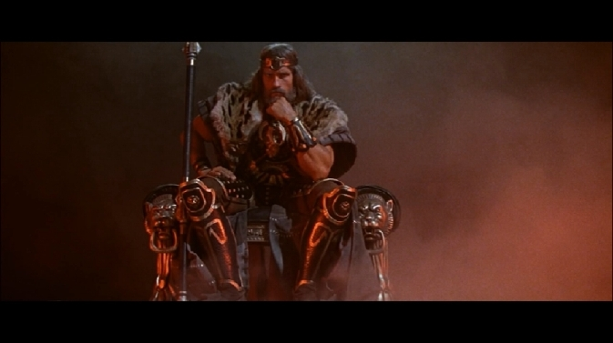 ctb-Arnold Schwarzenegger on throne