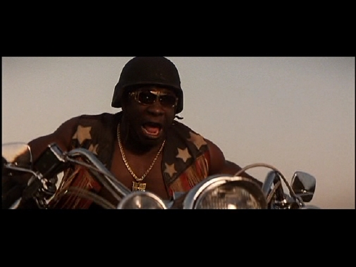 Armageddon-Michael Clarke Duncan on bike