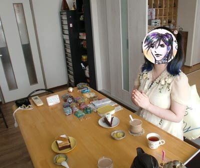 個人セッションのお茶会の様子