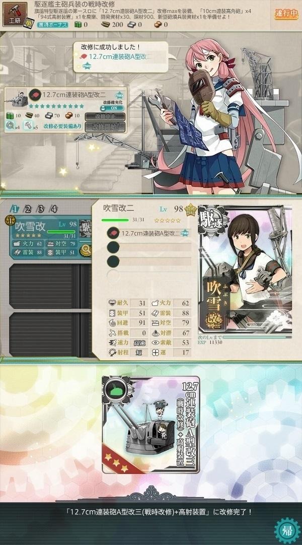 駆逐艦主砲兵装の戦時改修