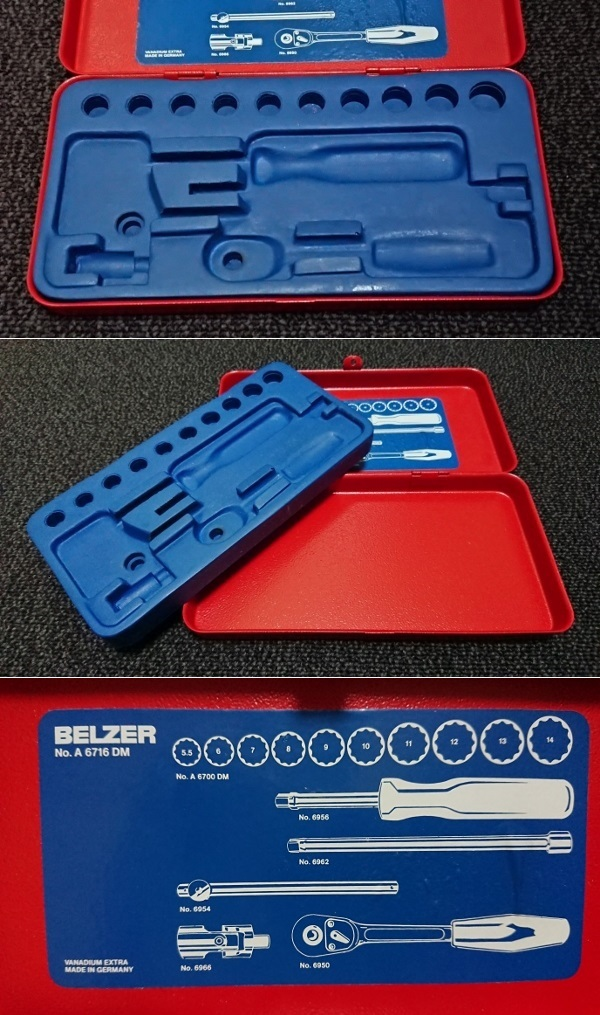 BELZER A6700DM ソケットレンチセット 8