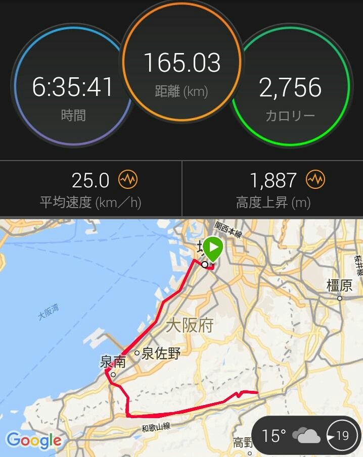 今季最長165kmぼっち和歌山ライド(白目)
