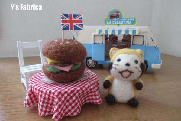 巨大ハンバーガー♪
