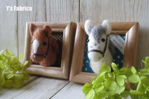 教室馬のアートフレーム♪