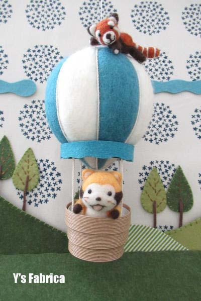 あらいぐま君、気球に乗る!