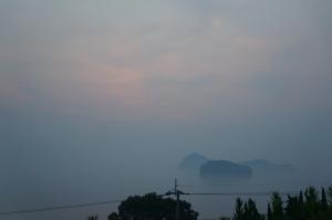 猛暑の朝3