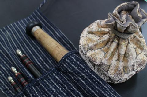 旧竿袋とリール入れ