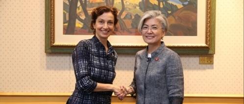 ユネスコ事務局長 文化・教育などで北朝鮮支援