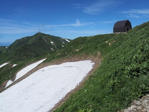 大日岳と御西小屋