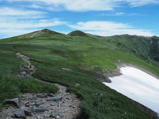 左:駒形山 中央:飯豊本山