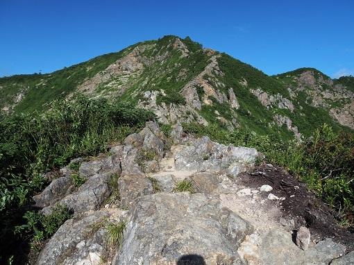 岩稜を振り返る