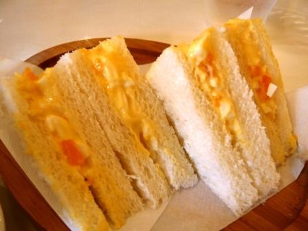 カフェドオレンジ:モーニング;サンドイッチ1