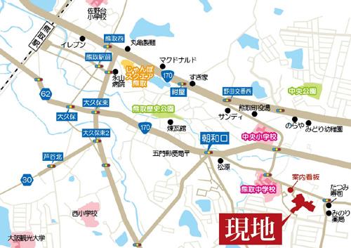 プレミアムガ-デン熊取の地図