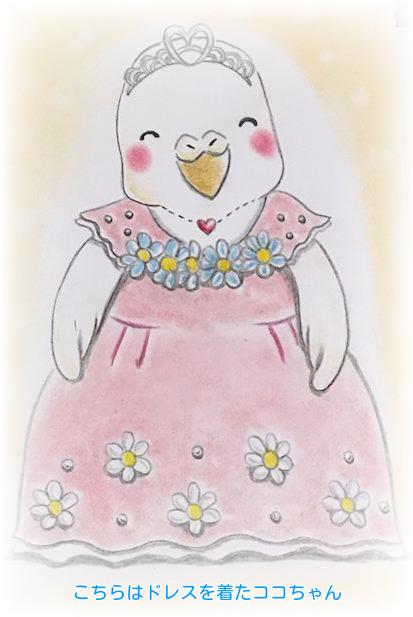 ④ドレス着たココちゃん