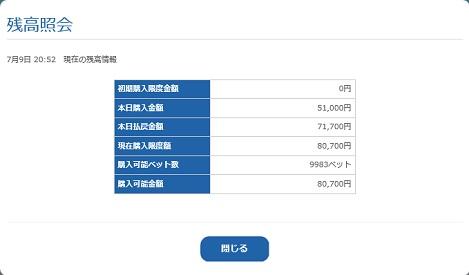 残高照会(18.07.09)
