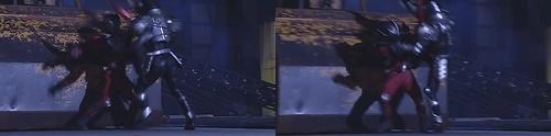 仮面ライダー龍騎がライダーにやられて、ヒーローが敗北してしまう。