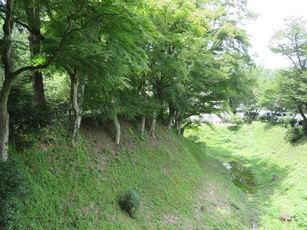 長篠城空堀と土塁