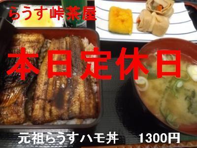 ハモ丼 定休