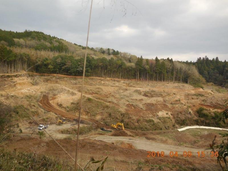 整備中の発生土処分地