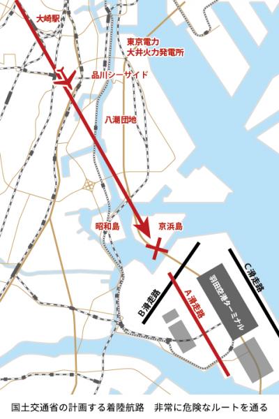 京浜島では上空70mを飛ぶ