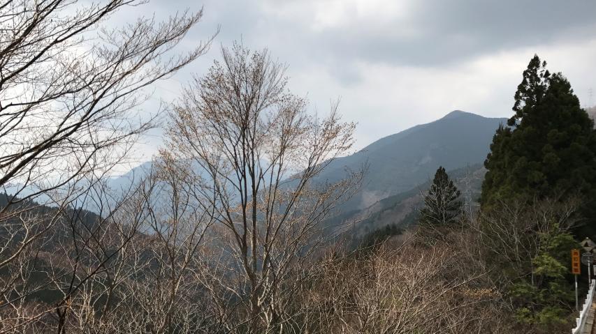 西三子山が見えた