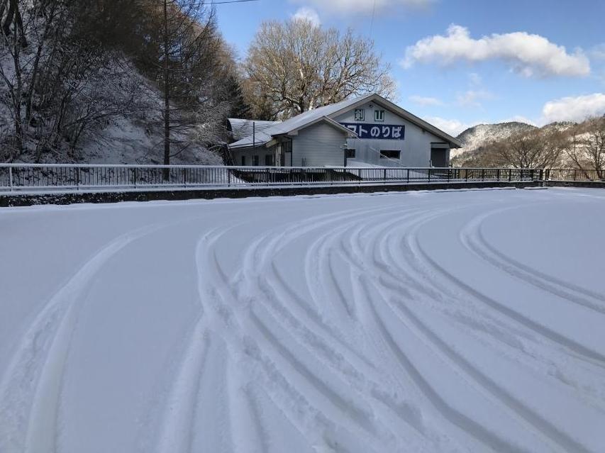 見ノ越で積雪8センチ