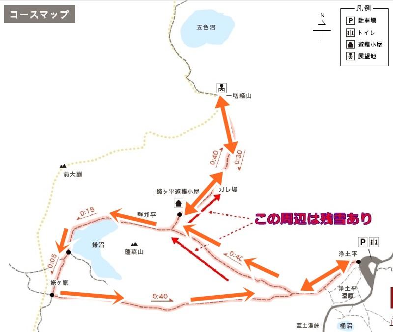 一切経山登山コース