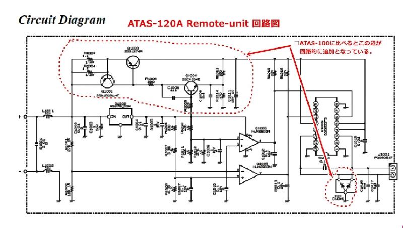 ATAS-120A Remote-unit 回路図(変更箇所)