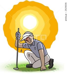 イメージ暑いゴルフ