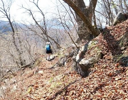 144落ち葉に埋もれた道