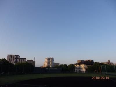 P5100649 午前6時、快晴のもと今年の早起き野球が開幕