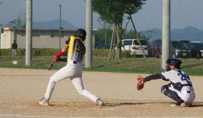 P6022277Big連チャンず4回表1死一塁から1番原口僚が遊強襲打で一、三塁